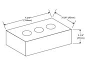 Масса модульного кирпича