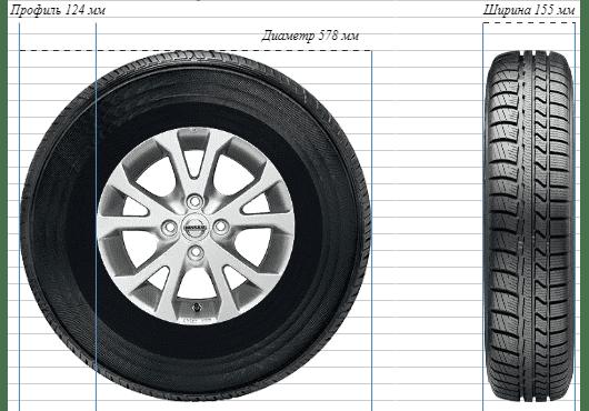 Масса шин Ford 155/80R13 min