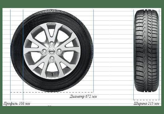 Масса шин Ford 215/50R18 min